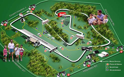 Road America Track Map